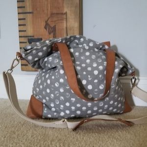 Merona cross body polka dot bag